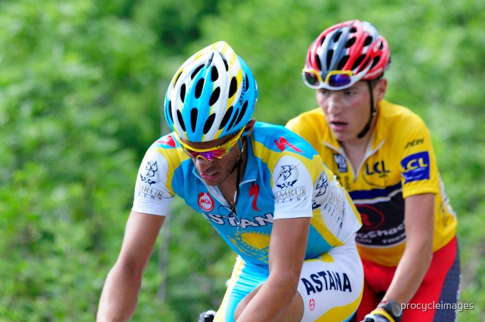 Contador V's Brajkovic by procycleimages