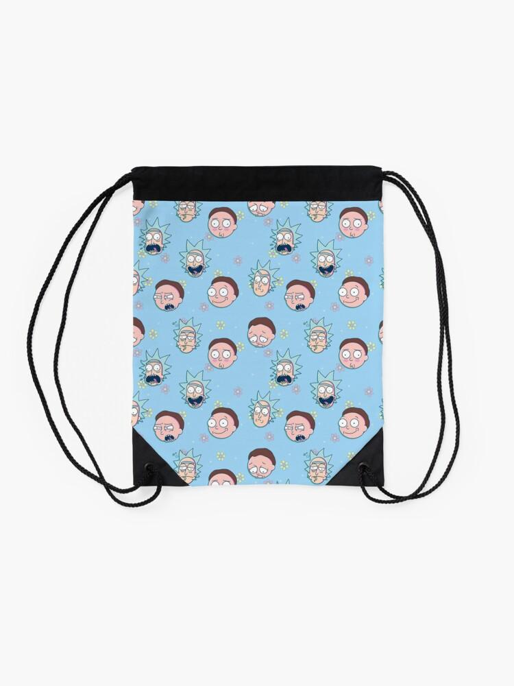 Alternate view of Rick & Morty Drawstring Bag