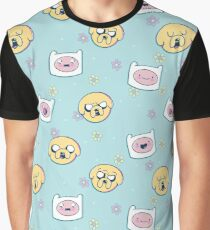 Camiseta gráfica Finn y Jake (Hora de aventura)