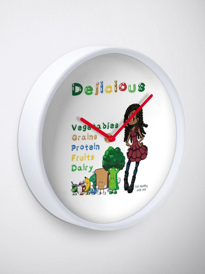 Alternate view of DELICIOUS Eat Healthy with NIK Clock