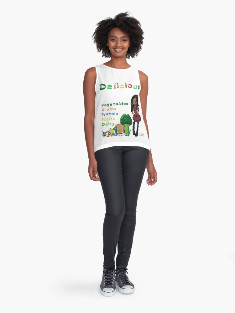 Alternate view of DELICIOUS Eat Healthy with NIK Sleeveless Top