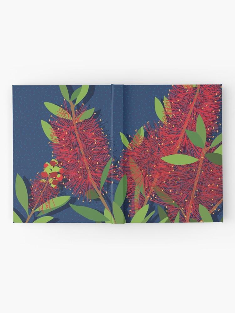 Alternate view of Red Bottlebrush Flowers Hardcover Journal