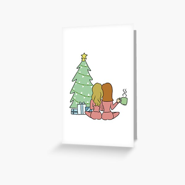 Girlfriend Christmas  Greeting Card