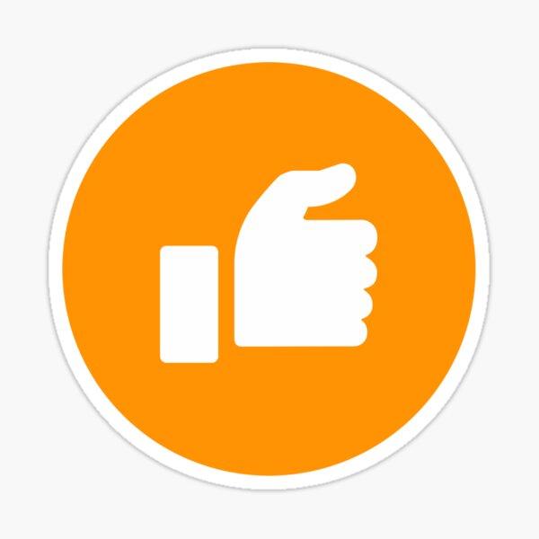Orange Half Thumb Sticker