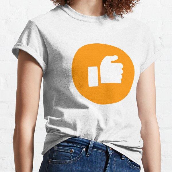 Orange Half Thumb Classic T-Shirt
