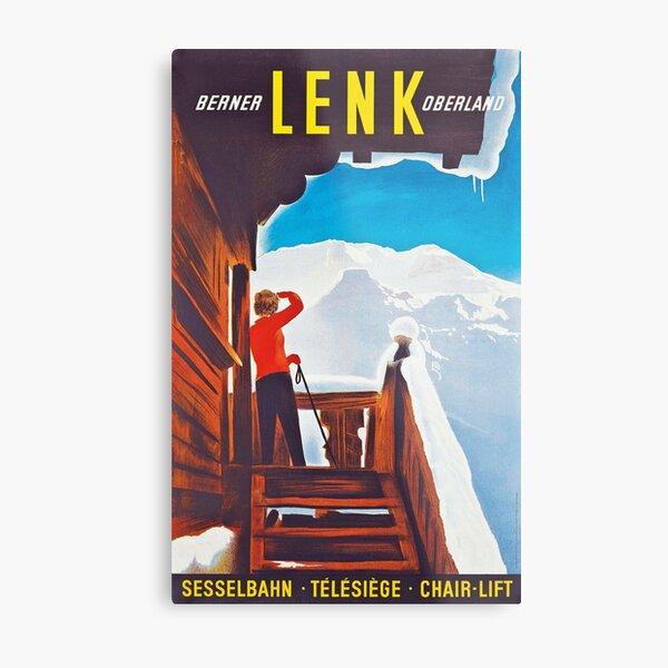Lenk Berner Oberland - Vintage Ski Poster Metal Print