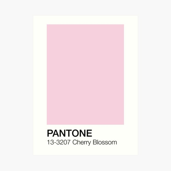 Cherry Blossom Pantone Shade  Art Print