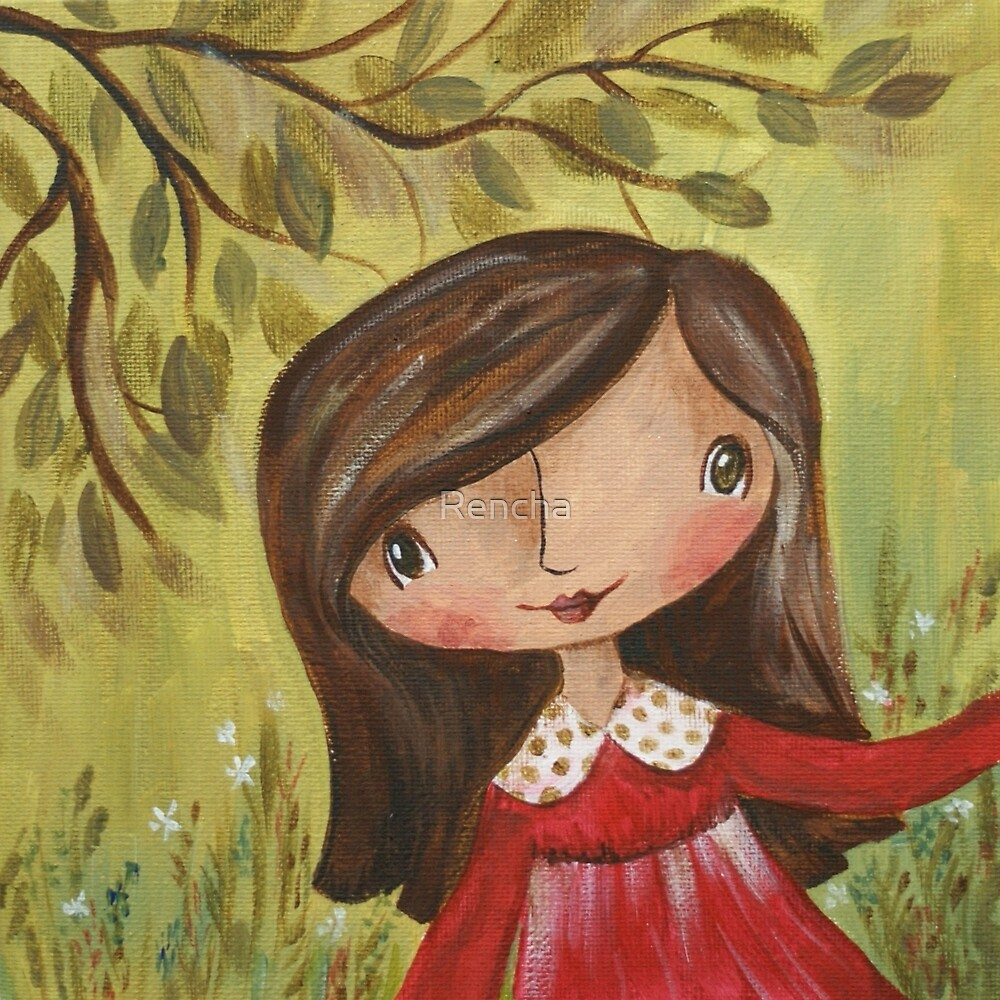 Tabitha in the Garden by Rencha