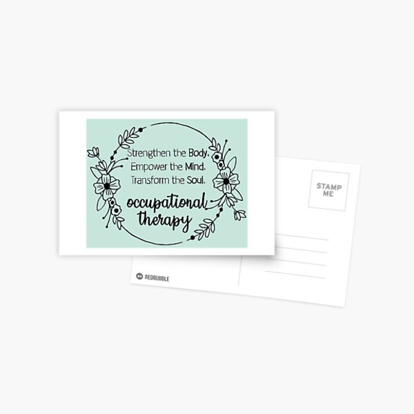 Occupational therapy Postcard