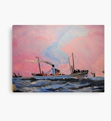 Steam Trawlers circa 1902 Canvas Print