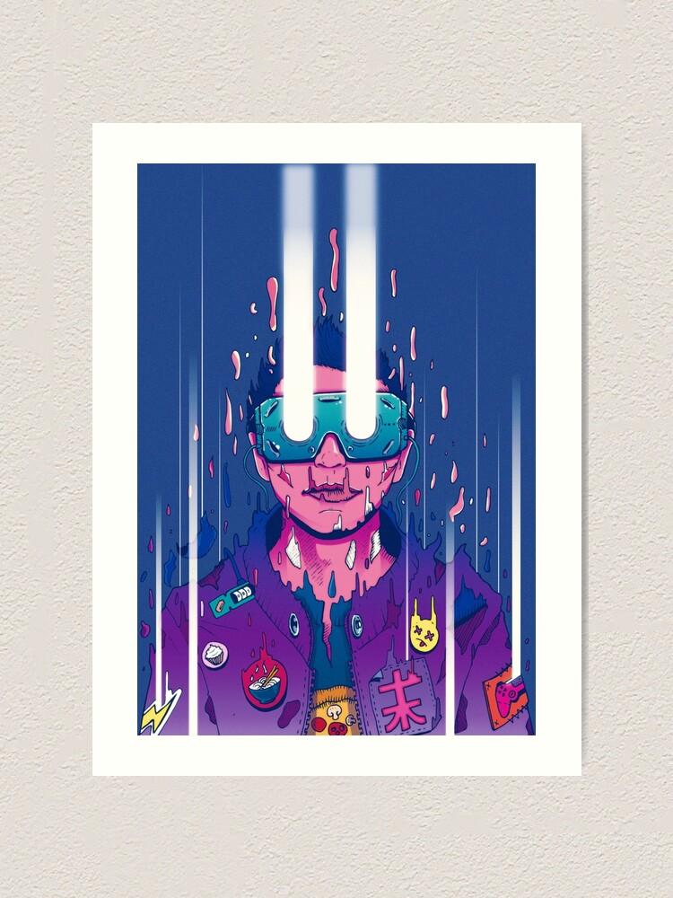 Alternate view of Cyberpunk afterlife soul transmission! Art Print