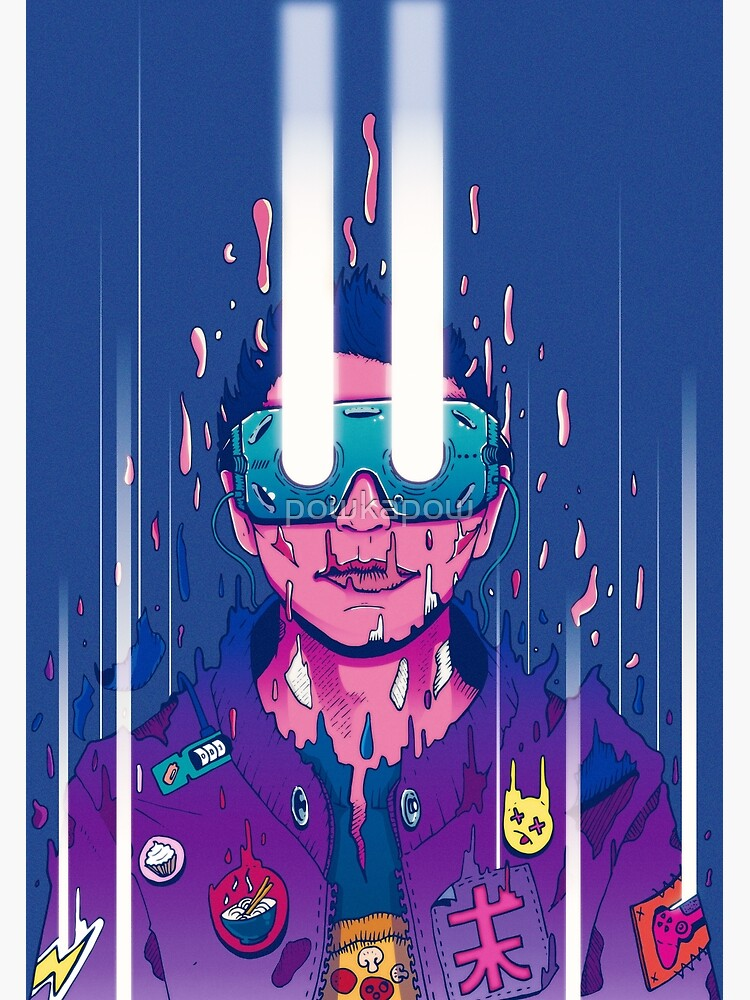 Cyberpunk afterlife soul transmission! by powkapow