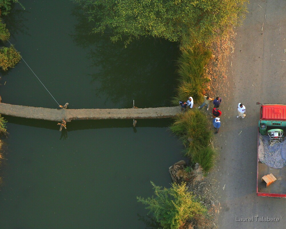 Crossing the Stream - View from Above by Laurel Talabere