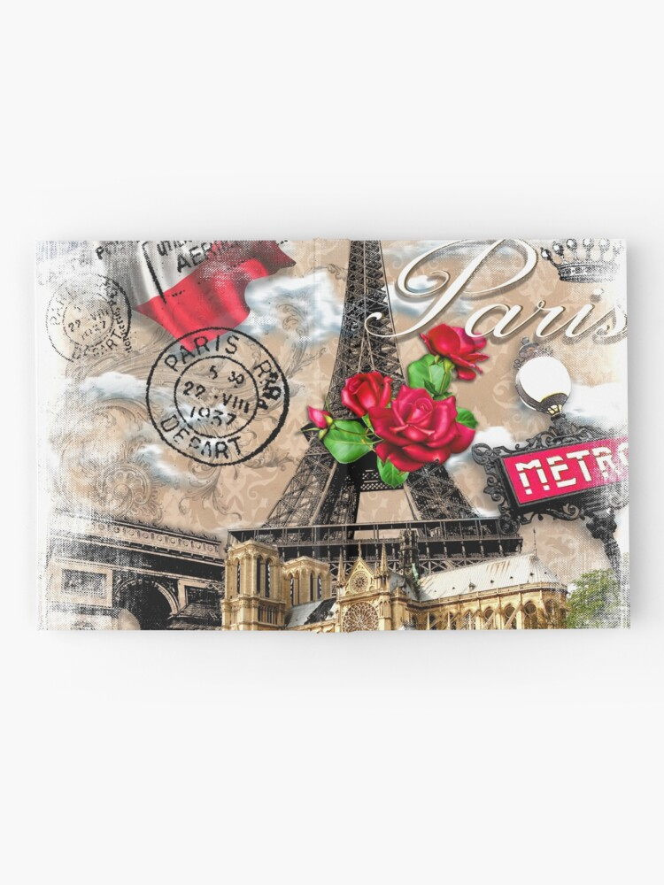 Alternate view of Paris Scenery  Hardcover Journal