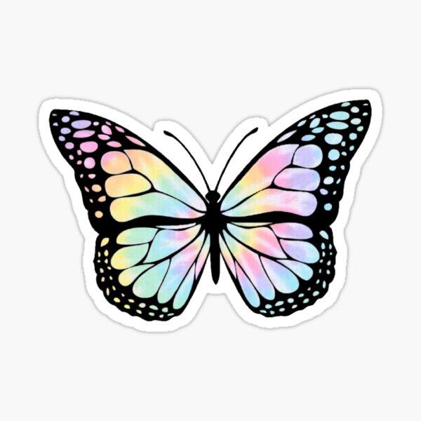 Tie Dye Butterfly Sticker