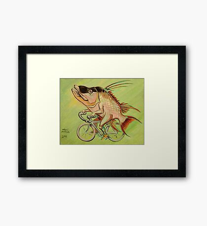 Hogfish on a Bicycle Framed Print