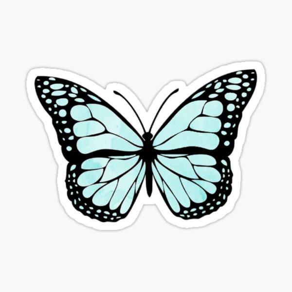 Teal Butterfly Sticker
