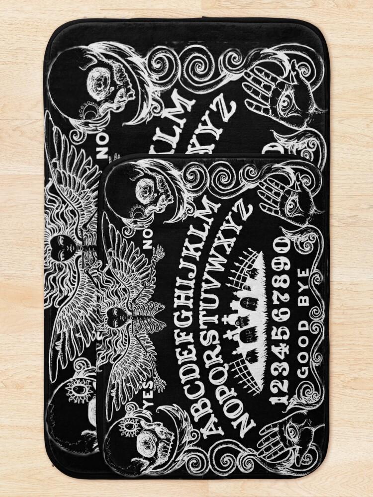 Alternate view of black witch board Bath Mat