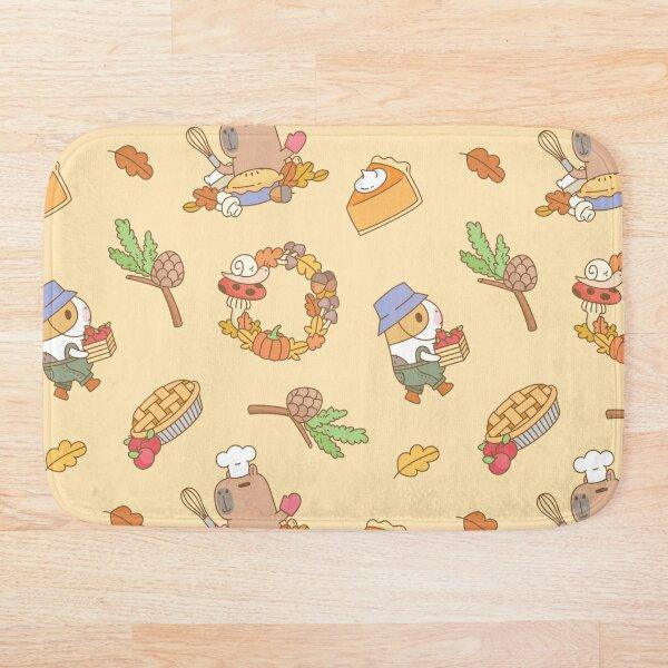 Bubu the Guinea pig, Fall and Pie  Bath Mat
