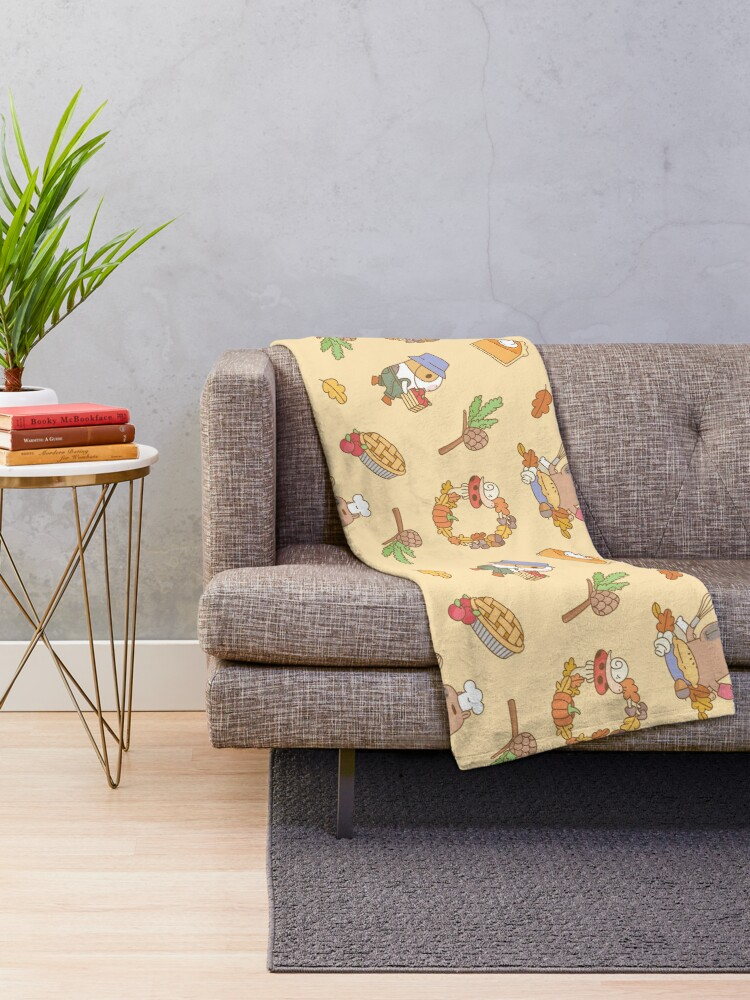Alternate view of Bubu the Guinea pig, Fall and Pie  Throw Blanket