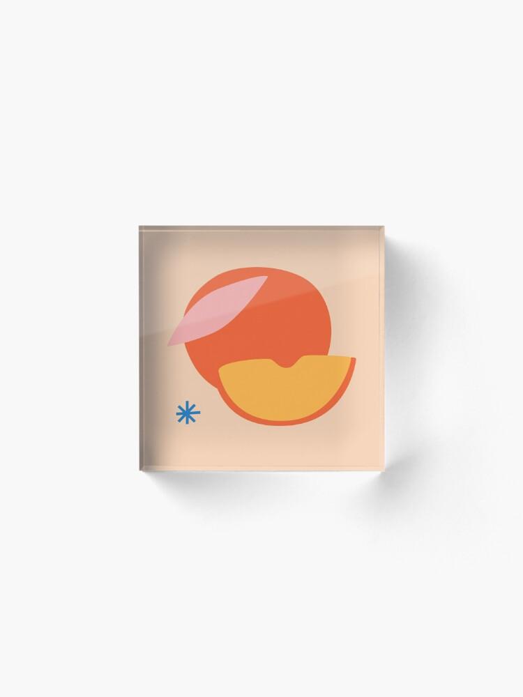 Alternate view of Peachy Acrylic Block