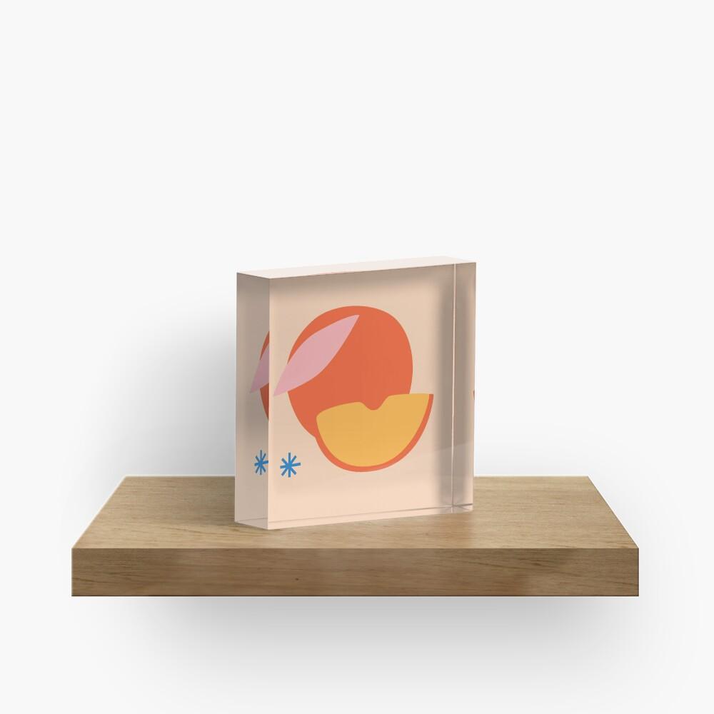 Peachy Acrylic Block