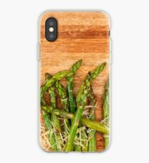 Grilled asparagus and parmesan cheese. iPhone Case