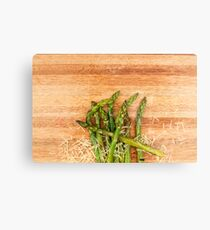 Grilled asparagus and parmesan cheese. Metal Print