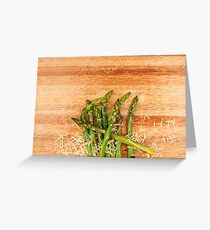 Grilled asparagus and parmesan cheese. Greeting Card