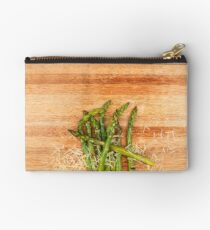 Grilled asparagus and parmesan cheese. Studio Pouch