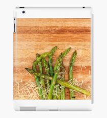 Grilled asparagus and parmesan cheese. iPad Case/Skin