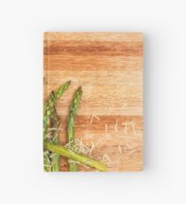 Grilled asparagus and parmesan cheese. Hardcover Journal