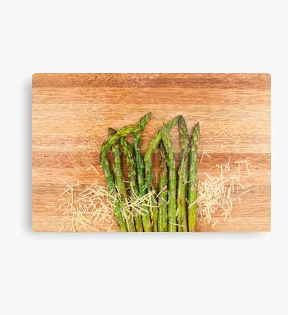 Grilled asparagus and parmesan cheese Metal Print