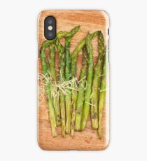 Grilled asparagus and parmesan cheese iPhone Case
