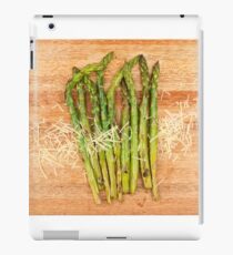 Grilled asparagus and parmesan cheese iPad Case/Skin