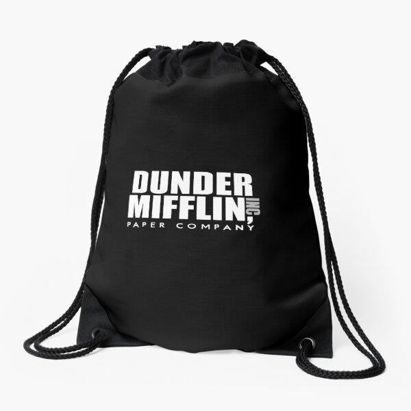 Dunder Mifflin Logo Drawstring Bag