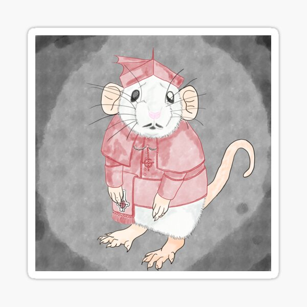 Cardinal Rat Sticker