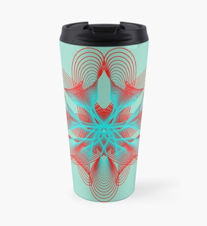 Spirograph with red and blue Travel Mug