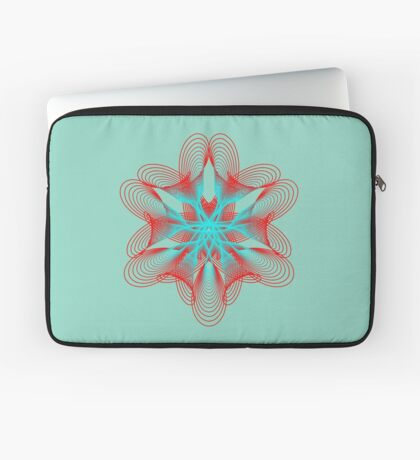 Spirograph with red and blue Laptop Sleeve