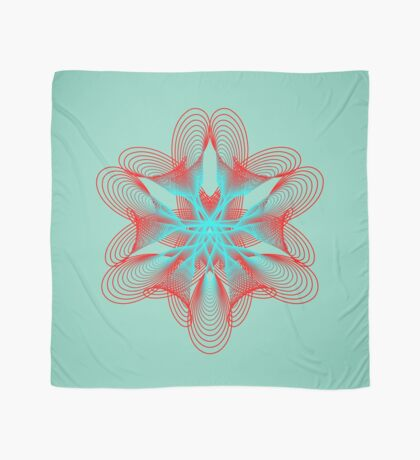 Spirograph with red and blue Scarf