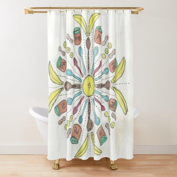 Banana Mush Mandala #1 Shower Curtain