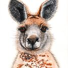 Kangaroo Face by blueidesign