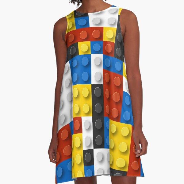 Mondrian blocks De Stijl Modern Art A-Line Dress