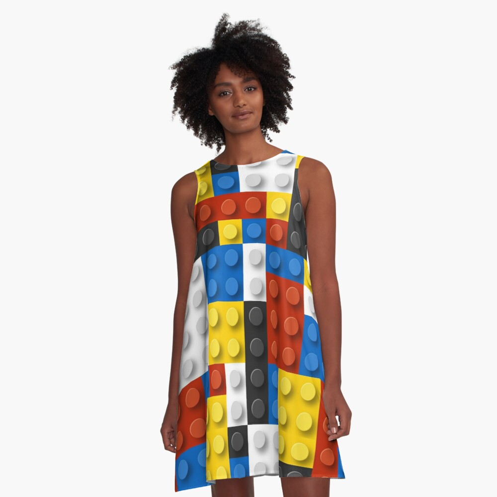 Mondrian blocks De Stijl Modern Art A-Line Dress