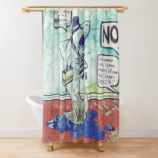 Larry the Shark Shower Curtain