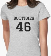 Buttigieg #46 (for lighter color shirts) Fitted T-Shirt
