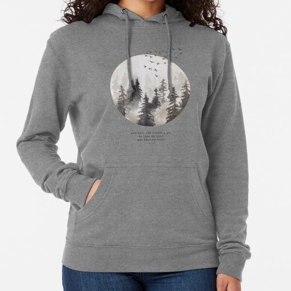 Into The Forest I Go Lightweight Hoodie