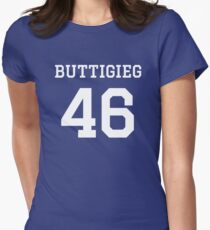 Buttigieg #46 (for darker color shirts) Fitted T-Shirt