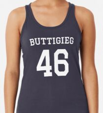 Buttigieg #46 (for darker color shirts) Racerback Tank Top