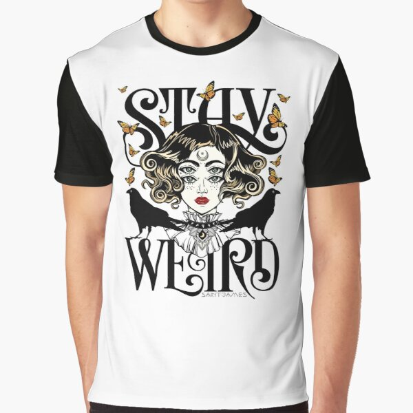 Rose and The Ravens {Stay Weird} Colour Version Graphic T-Shirt